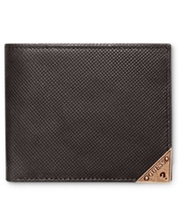 Guess Maurice Double Billfold Wallet Tobacco