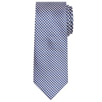 Chester Barrie By Chevron Woven Silk Tie Blue Silver