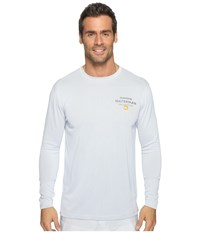 Quiksilver Water Marked Long Sleeve Rashguard White Men's Clothing