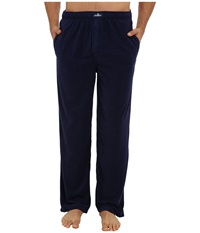 Jockey Microplush Knit Pants Solid Navy Men's Pajama