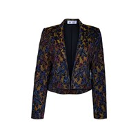 The Bee's Sneeze Flower Brocade Tuxedo Blazer