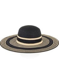 Reiss Aramais Stripe Sun Hat Black Neutral Black Natural