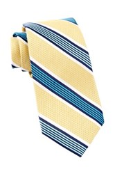 Alara Grenadine Silk Stripe Tie Yellow