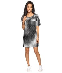 Roxy Get Together T Shirt Dress Anthracite Friday Stripe Women's Dress Gray