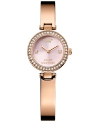 Juicy Couture Women's Luxe Couture Rose Gold Tone Bangle Bracelet Watch 25Mm 1901226