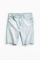 Calvin Klein Splattered Cutoff Denim Short Vintage Denim Light