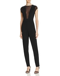 French Connection Marie Mesh Inset Jumpsuit Black