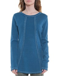 Xcvi Lildi Long Sleeve Thermal Tee Blue Jean Wash