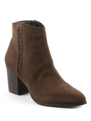 Daniel Victorina Pointed Toe Ankle Boots Brown