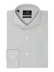 Chester Barrie Check Tailored Fit Long Sleeve Shirt Grey