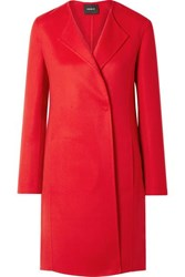 Akris Blacky Cashmere Coat Red