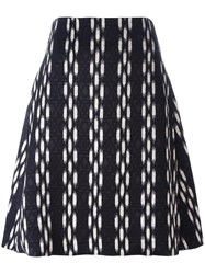 Eggs Jacquard A Line Skirt Black
