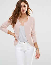 Jdy Patrcia Knit Cardigan In Peach Peach Whip Pink