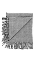 Our Legacy Prince Of Wales Scarf Black White