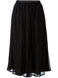 Red Valentino Tulle Layered Skirt Black
