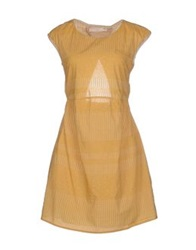 Tela Short Dresses Ocher