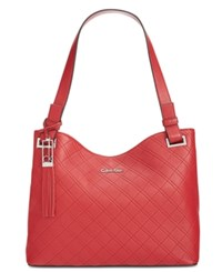 Calvin Klein Pebble Shopper Red