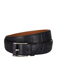 Zilli Crocodile Skin Belt Unisex Navy