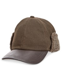 Woolrich Men's Canvas Cap Brown