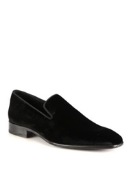 Saks Fifth Avenue Velvet Loafers Black