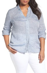 Nic Zoe Plus Size Women's Drifty Woven Linen Shirt
