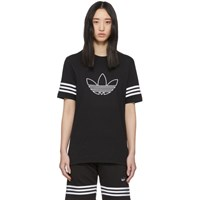 Adidas Originals Black Outline Trefoil T Shirt