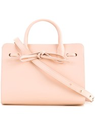 Mansur Gavriel Mini Sun Bag Women Calf Leather One Size Pink Purple