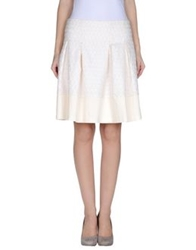 Darling Knee Length Skirts Ivory