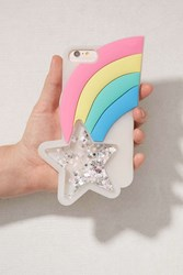 Urban Outfitters Rainbow Star Silicone Iphone 8 7 6 Plus Case Multi