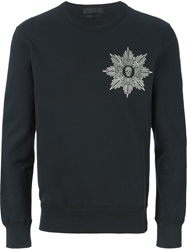 Alexander Mcqueen Embroidered Skull Badge Sweatshirt Black
