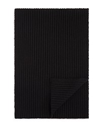 Bloomingdale's The Men's Store At Ribbed Scarf Black
