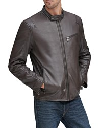Andrew Marc New York Weston Moto Leather Jacket Chocolate