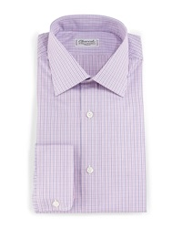Charvet Plaid Check Dress Shirt Blue Red
