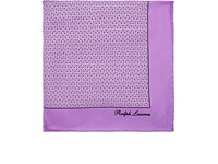 Ralph Lauren Purple Label Rectangle Print Silk Pocket Square Purple