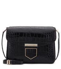 Givenchy Nobile Small Embossed Leather Shoulder Bag Black