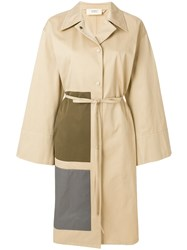 Ports 1961 Belted Panel Detail Coat Nude And Neutrals