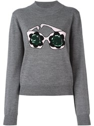 Markus Lupfer Sequined Sweatshirt Grey