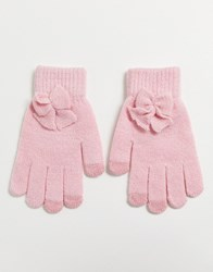 7X Svnx Baby Pink Gloves With Bow
