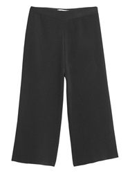 Mango Textured Capri Trousers Black