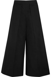 Joseph Nixie Pleated Cropped Wide Leg Pants Black