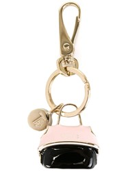 Tod's 'Wave' Keyring Black