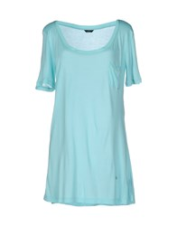 Harmont And Blaine T Shirts Turquoise