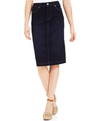 Style And Co. Petite Denim Skirt Rinse Wash