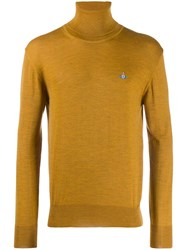 Vivienne Westwood Roll Neck Knit Sweater Yellow