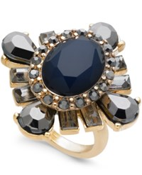 Inc International Concepts Gold Tone Stone Statement Ring Created For Macy's Blue