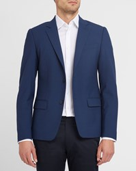 Kenzo Blue Stretch Slim Fit Suit Jacket