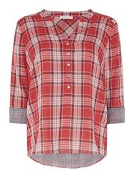 Maison De Nimes Check Double Shirt Red