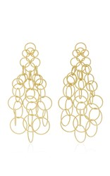 Buccellati Hawaii Long Pendant Earrings Gold