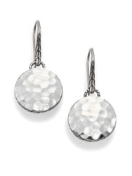 John Hardy Palu Sterling Silver Disc Drop Earrings