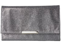 Jessica Mcclintock Nora Lurex Clutch Pewter Clutch Handbags